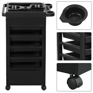 Rolling Salon Hairdresser Barber Beauty Storage Trolley Hair 5 Layers Cart SPA