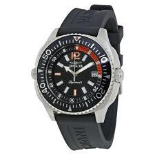 Invicta Signature II Black Dial Stainless Steel Mens Watch 7355