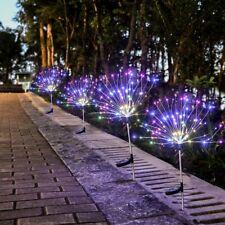 90 LED Solar Powered Firework Starburst Multi Colour Garden Light