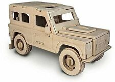 Land Rover: Woodcraft Quay Construction Wooden Jeep 3D Model Kit P323 Age 7 plus