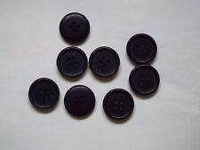 8pc 20mm Matt Black Coat Suit Cardigan Knitwear Button 4939