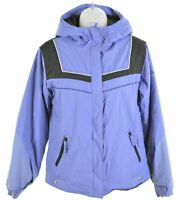COLUMBIA Girls Windbreaker Jacket 14-15 Years Purple Nylon  DO01