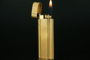 Cartier Lighter Anglais Gold plated Working Vintage  #C71