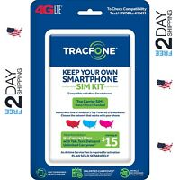 Tracfone Bring Your Own Phone Sim Activation Kit Triple Punch Micro Nano Byop US