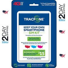 Tracfone Bring Your Own Phone Sim Activation Kit Triple Punch Micro Nano Usa Stk