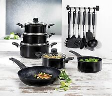 17-Pcs BEEM Aluminum Cookware Set Pots & Pan incl. 7-Pcs Kitchen Aid Set NEW