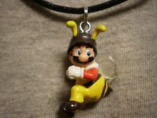 Super Mario Brothers Galaxy Bumblebee Mario Figure Charm Necklace Cute Jewelry