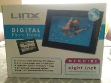 Linx digital photo frame - black - 8""