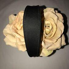 Lulu Guinness Florists Flower Basket Evening Silk Satin Black Handbag Purse