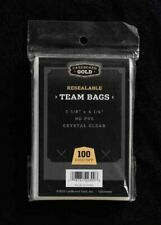 CBG 5000 ct Resealable Sports Card Team Set Bags Cardboard Gold FREE SHIPPING