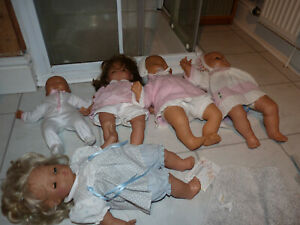 5 Vintage Plastic Dolls, Jesmar, Maxzapf etc