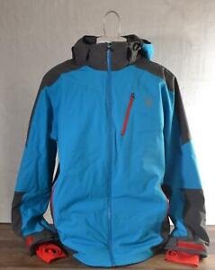 Spyder Chambers Jacket Men's XXL Color Electric Blue/Polar/Red 100% Polyester