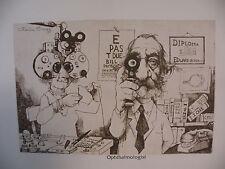 "Art print Charles Bragg black Lithograph gp ""OPHTHALMOLOGIST"" Duotone Signed"