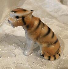 """Vintage Porcelain Tiger Figurine 3.5"""" Tall"""