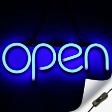 Led Neon Open Sign Light for Business with On & Off Switch - Blue