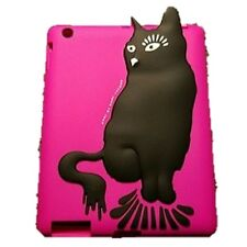 New Marc by Marc Jacobs Ipad 3 & 4 Pink & Black Cat Cover Soft Silicone Durable