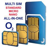 O2 Sim Card Pay As You Go £5 per month Unlmitd Minutes Nano Triple Cut 4G GSM UK