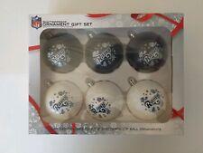 Set Of 6 LA Rams Holiday Ornament Gift Set (NEW)