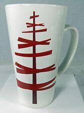 """STARBUCKS 16 oz Coffee Mug Christmas Holiday Modern Stick Tree 6"""" Tall  2012"""