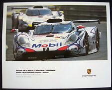 Porsche Official 993 911 Gt1 Racecar Surviving Le Mans Poster 1998