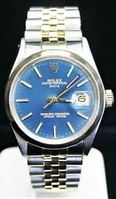 1966 ROLEX Oyster Date Ref 1500 14k/SS Blue Dial Automatic Mens Watch B3750