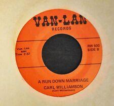 HEAR MP3 OBSCURE COUNTRY Carl Williamson Van-Lan 500 A Run Down Marriage