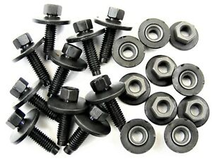 Ford Body Bolts & Barbed Nuts- M6-1.0 x 22mm Long- 8mm Hex- 20 pcs- #396