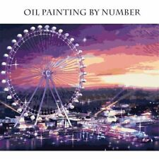 Oil Painting Ferris Wheel painting By Numbers Seagull Paints Canvas Pictures DIY