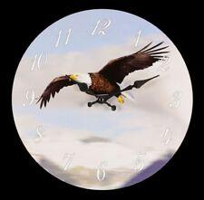 Wanduhr mit Adler - Deko Uhr Greifvogel Weißkopfseeadler Amerika USA
