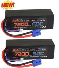 PowerHobby 4S 14.8V 7200mAh 60C-120C Lipo Battery EC5 4-Cell Hard Case ( 2 Pa...