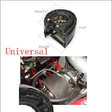 Black Glass Fibre Car Turbo Blanket Heat Shield Barrier Turbocharger Cover Wrap