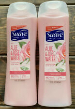 2 Suave Essentials Aloe & Rose Water Moisturizing Body Wash 15 oz