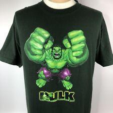 Hulk Movie Merchandise Shirt Sz Large Green Marvel 2003 Short Sleeve Tee