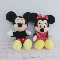"""Disney Mickey And Minnie Mouse Lot Of 2 10"""" Plush Stuffed Toy Disney Store"""