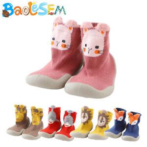 Boy Girls Baby Toddler Kids Anti-slip Crawling Cartoon Socks Shoes Slipper Boots