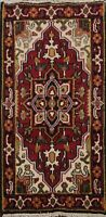 Geometric RUST/ BLACK Heriz Oriental Area Rug Wool Hand-Knotted 2x4 ft Carpet