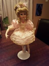 "Beautiful ""Giselle"" Collectible Memories Porcelain Ballerina Doll 16 inch stand,"