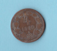 AUSTRIA .4 KREUZER 1860 .. (Not send to Uruguay  and  Costa Rica)