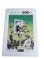 Puzzle Lucky Luke le Porte-bonheur 500 pieces Nathan 36 x 49 cm