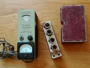 Vintage Heathkit Model GD-1B - Grid Dip Meter with coils