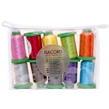 Isacord Top 10 Thread Kit - 10pcs of Spool Starter Kit - 1000m Sewing Threads