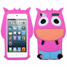 iPod Touch 5 / 6 Gen - SOFT SILICONE RUBBER FLEX GUMMY CASE COVER PINK ORANGE CO