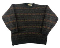 VTG LL Bean SHETLAND WOOL Sweater Made In Scotland Multicolor Size Mens XL