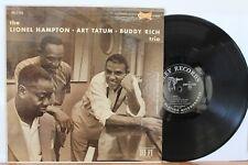 LIONEL HAMPTON, ART TATUM, BUDDY RICH Trio LP (Clef 709, orig 1956 DG) NM