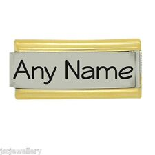 Gold Trim Superlink PERSONALISED Custom Made Daisy Fits Nomination Classic Size