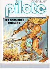 "MAGAZINE ""PILOTE MENSUEL no 42"" (1977) BILAL / FRED / F MURR / TOUIS / GIBRAT"