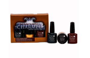 CND Shellac CHARMED Limited Edition Set Serene Green & Scarlet Red GEL Polish
