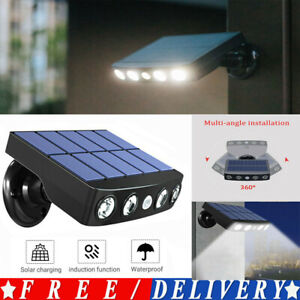 LED Solar Powered Motion Sensor Lamp Outdoor Garden Security Wall Light PIR  UK
