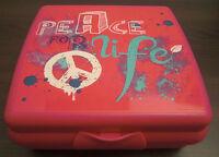 Tupperware A 126 Sandwichbox Peace Pausendose Brotzeitdose Box Pink Rosa Neu OVP
