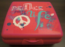 Tupperware A 126 Sandwichbox Peace Pausendose Brotzeitdose Box Pink Rosa Neu OVP